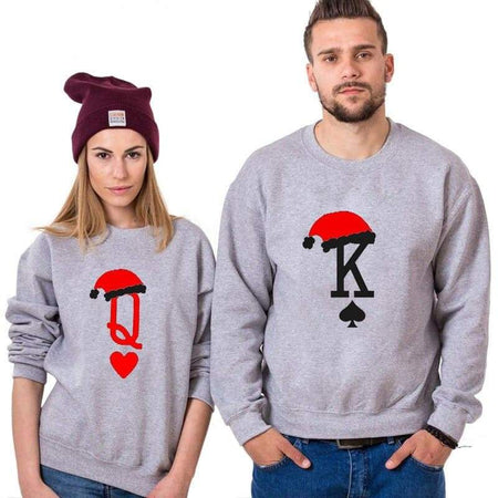 couple avec Sweat couple king & queen edtition Noël insta couple la boutique de tous la boutique de tous les couples