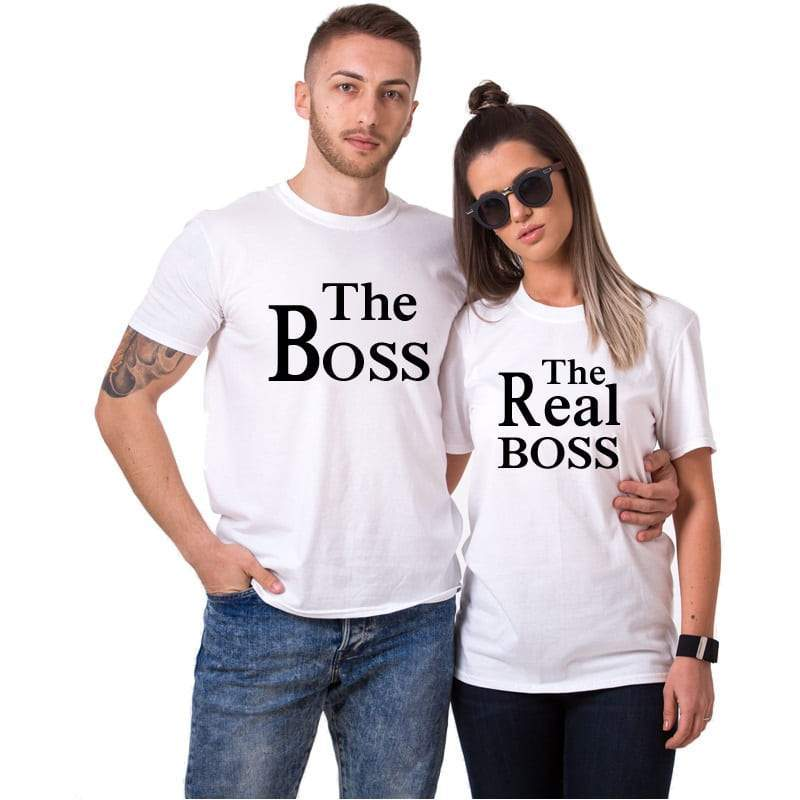 T Shirt Couple <br/> The Real Boss