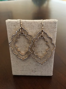 Scalloped Dangle Earrings