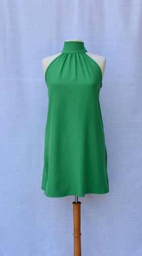 Green Bow Neck Dress