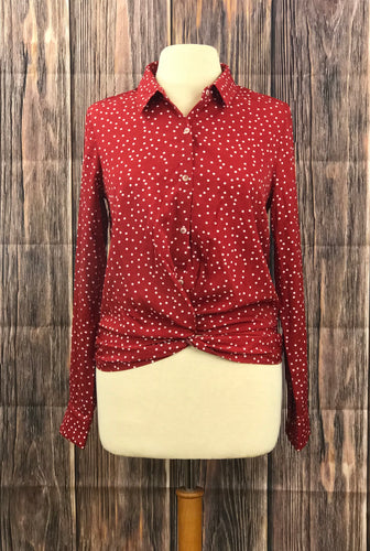 Long Sleeve Polka Dot Top
