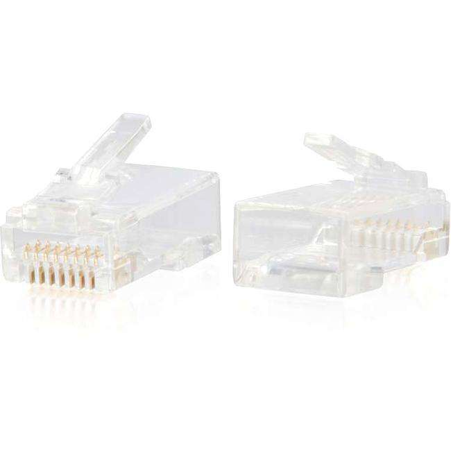 C2G RJ45 Cat6 Modular Plug for Round Solid-Stranded Cable - 100pk