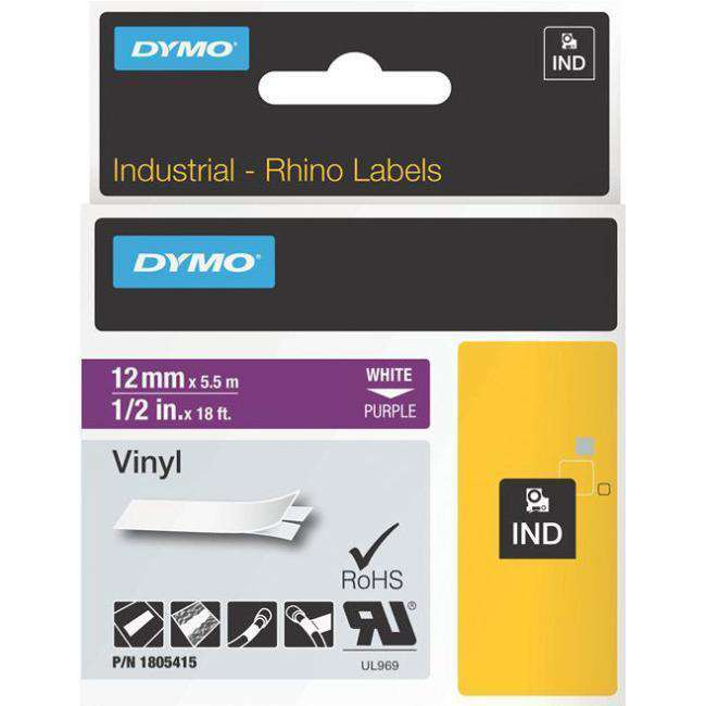 1-2IN PURPLE VINYL LABELS FOR