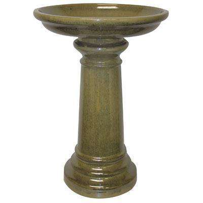 SP Ceramic Bird Bath Lt Green