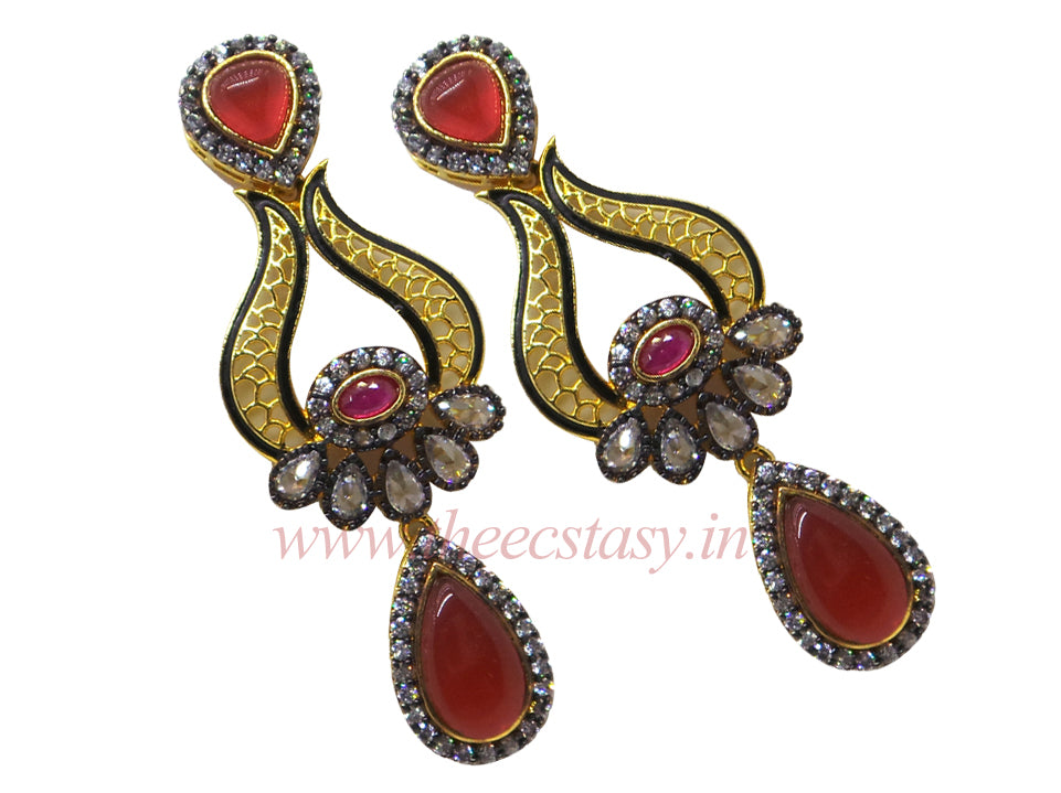 Zircons Earrings - F131