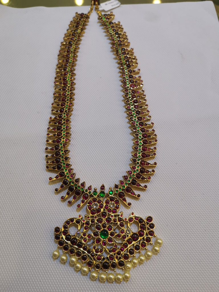 Temple Jewellery  Curved MANGO HARAM
