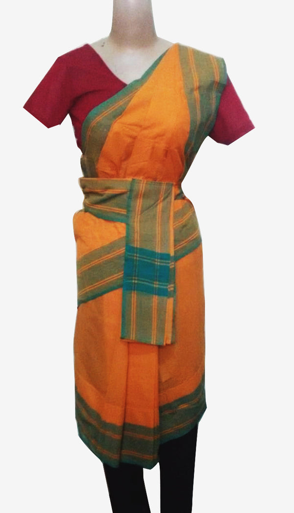 Readymade Professional Bharatanatyam Practise Saree Plain(Jewelleries are not included)