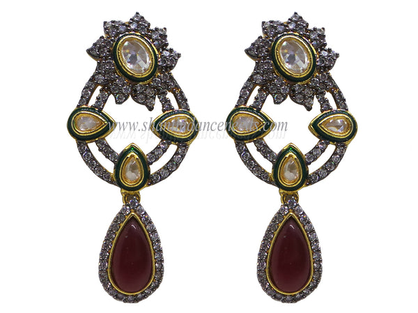 Zircons Earrings - F134