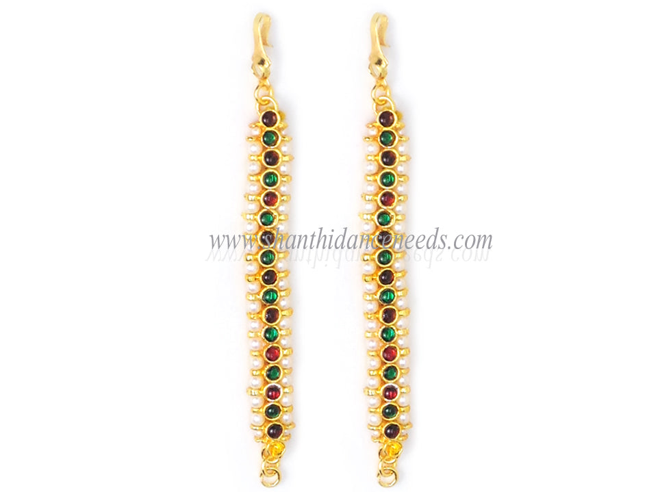 1 LINE MATTAL RED AND GREEN STONE