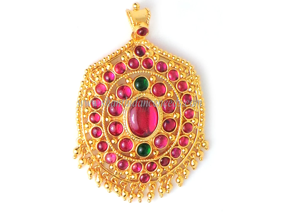 KUTCHAKAL DOLLAR RED WITH GREEN STONE