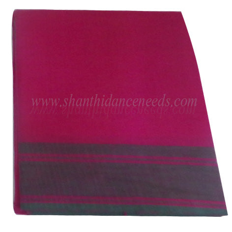 Practice Saree Plain -  Pink with Green