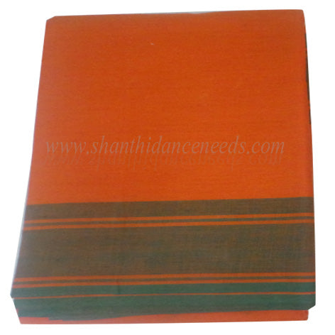 Practice Saree - Orange with Green