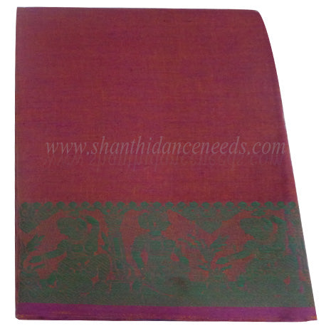 Practice Saree - Yellowish Purple (w) Green
