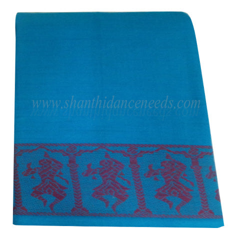 Practice Saree - Sky Blue with Red