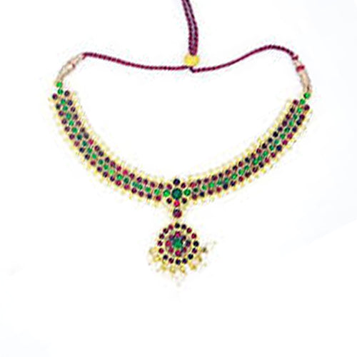 Sowndarya Necklace Center Green