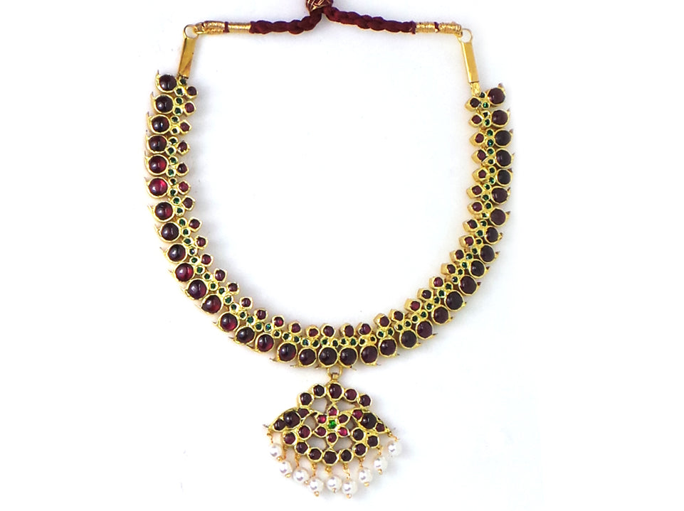 Temple Jewellery Mango Necklace