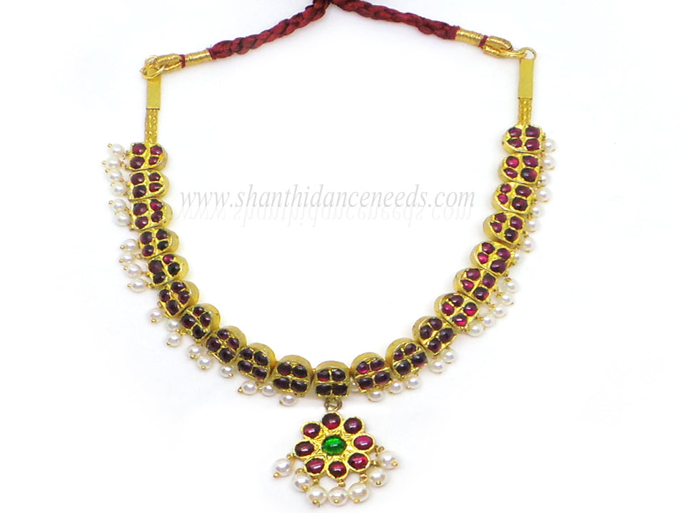 Temple Jewellery Necklace - 4 Stones