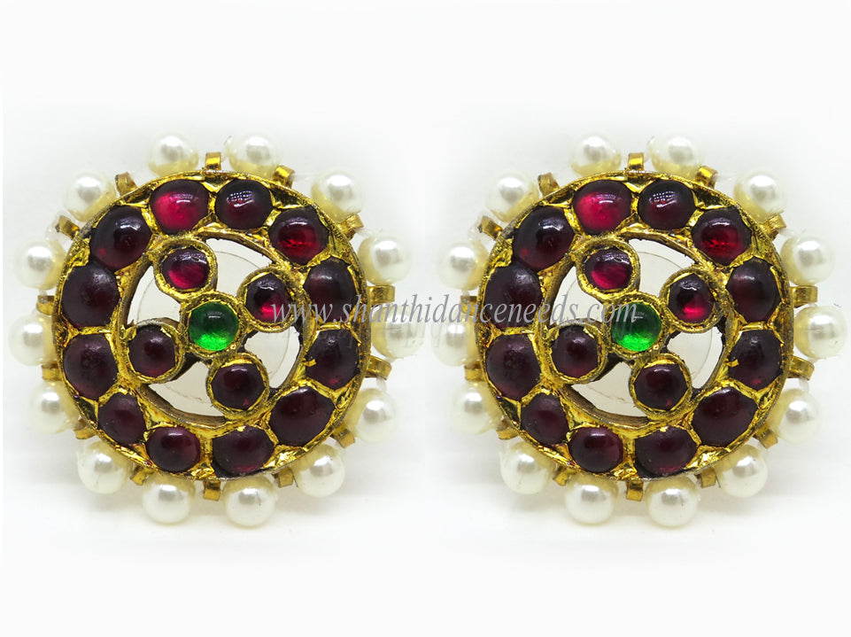 Temple Jewellery Stud with Beats