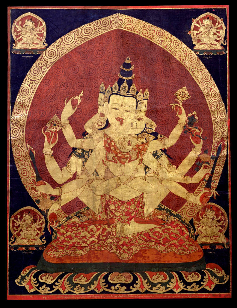 17th century central tibeten thanka of Guhyasamaja tantra