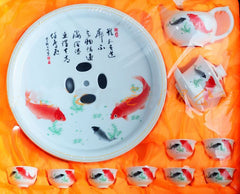 A example of koi in Chinese porcelain plates.