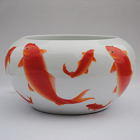 A example of koi in Chinese porcelain bowls.