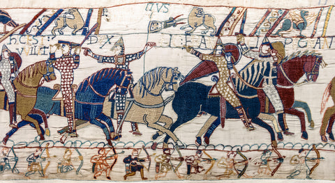 Bayeux Tapestry scene55 William Hastings battlefield