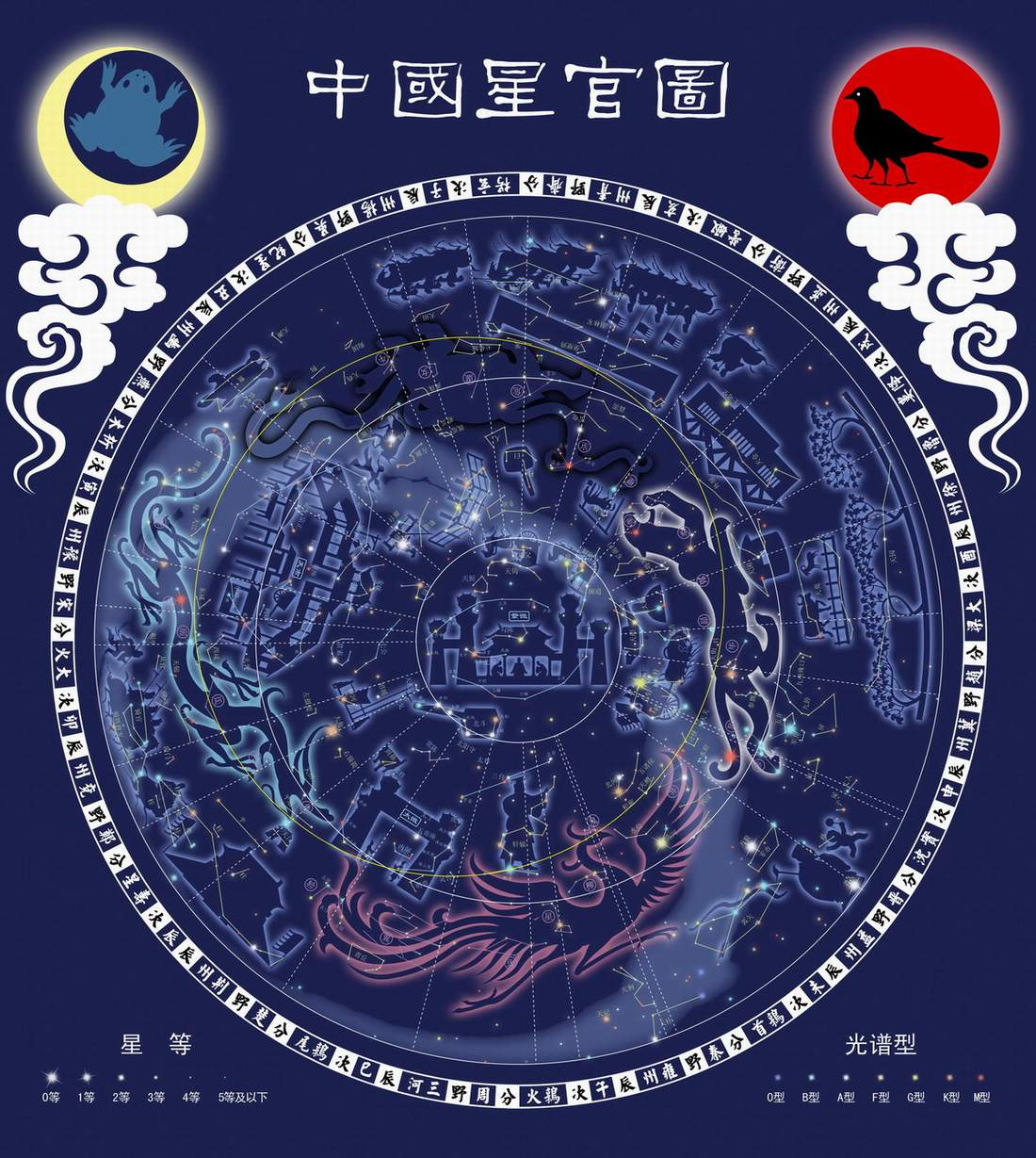 Art of silk blog chinese astrology and zodiac the heaven human chinese constellation map buycottarizona Image collections