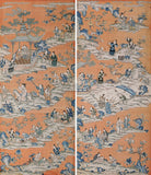 Hanging panel from Qianlong Emperor's reign depicting children playing in the palace grounds.