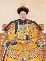 Three Blessings silk embroidery art created for the Chinese Qianlong Emperor.