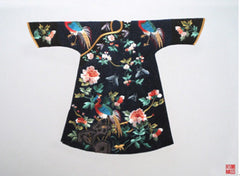Chinese Empress's Robe adorned with phoenixes and peonies.