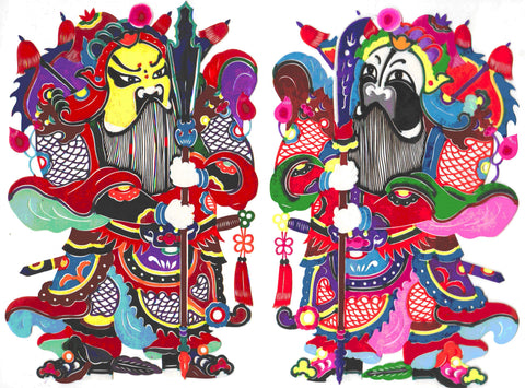 Chinese New Year Door Gods