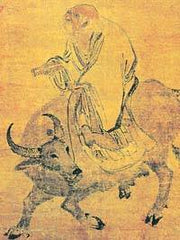 Depiction of Laozi, a Chinese philosopher and teacher.