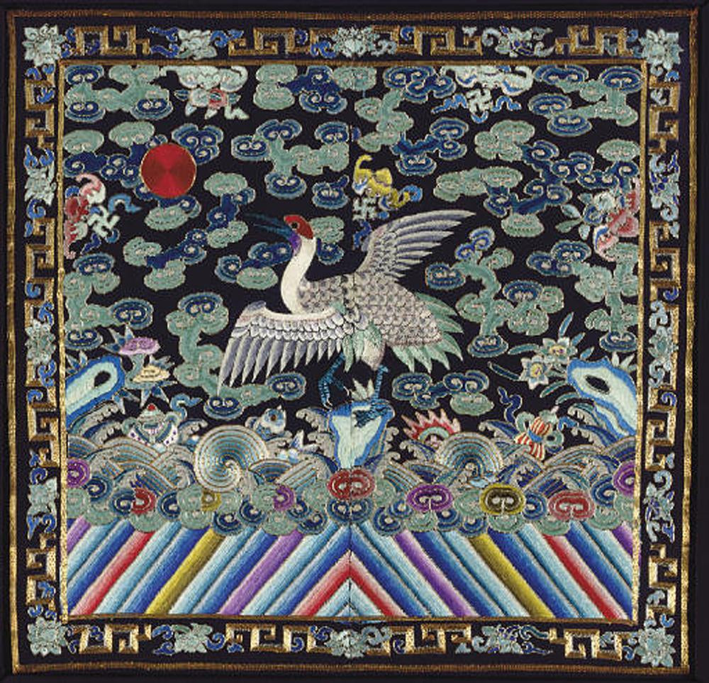 Art of silk blog animal symbolism in chinese art the emblem for the highest rank in ancient chinese official uniform is a crane buycottarizona