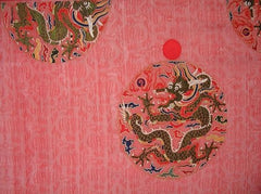 Example of dragon motif embroidered on a dragon robe from the Ming Dynasty.