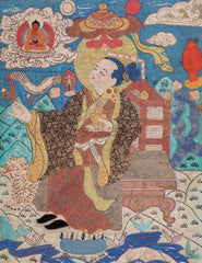 Embroidered Buddhist tapestry meant to adorn a palace.