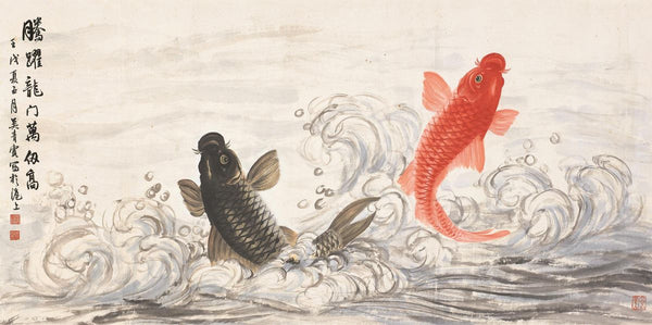 Koi painting by Wu Qingxia, 1910.