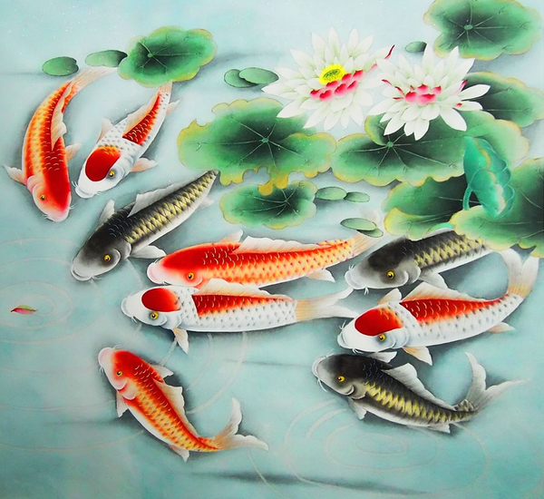 Fish in Chinese is yu(鱼), which is similar to another word, 余, meaning