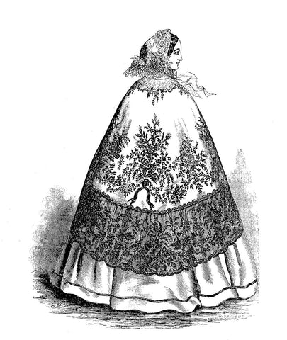 Victorian fashion with silk ribbon