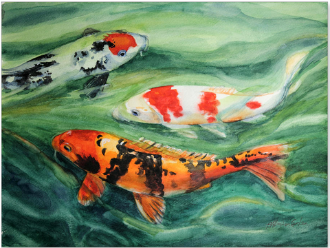 Koi Painting by Patricia Allingham Carlson