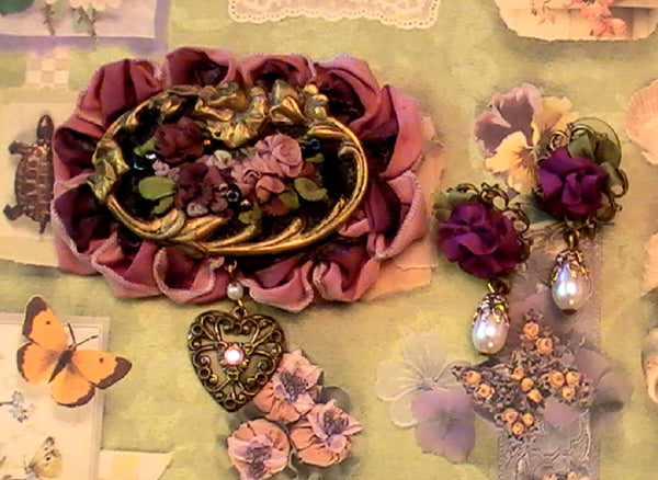a gorgeous silk ribbon embroidery