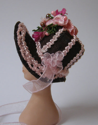 a hat with silk ribbon embroidery