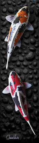Koi wall sculpture by Shawn Vernon