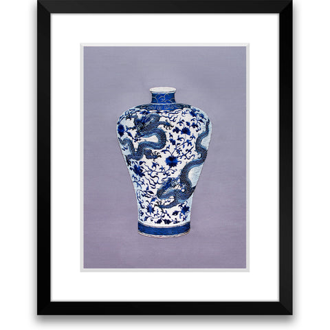 Dragon and Lotus Plum Vase-1