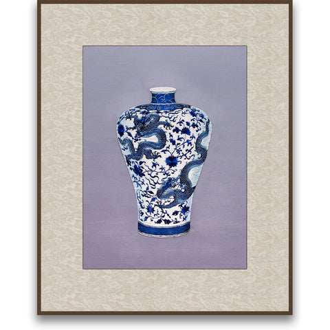 Dragon and Lotus Plum Vase-2