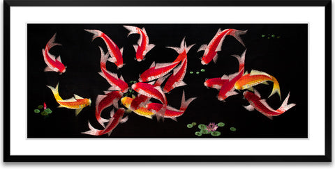 Eighteen Koi Fish-1