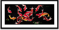 Eighteen Koi Fish