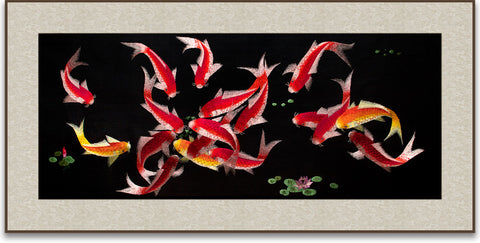 Eighteen Koi Fish-2