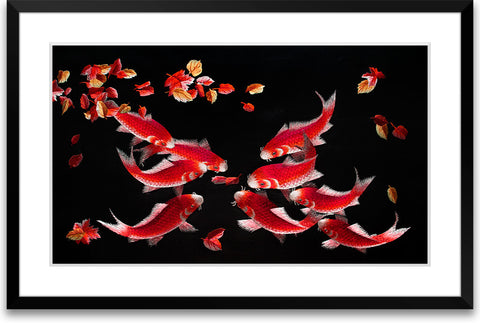 Nine Koi Fish-1