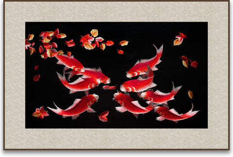 Nine Koi Fish-2