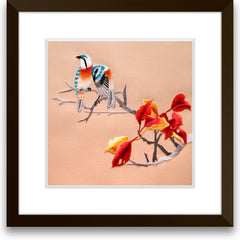 Sunbirds on Autumn Leaves